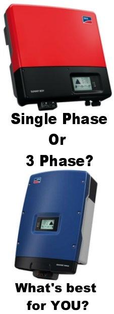 SMA 1 phase and 3 phase solar inverters