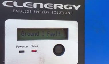 Clenergy SPH15 Ground I Fault
