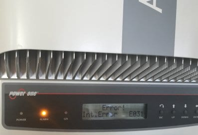 Abb Power One Inverter Int Error E031