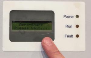 Please Wait Message on Aero-Sharp Inverter
