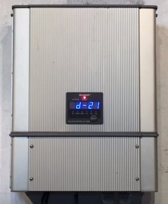 Sharp Jh1600 Solar Inverter D 21 Fault Message