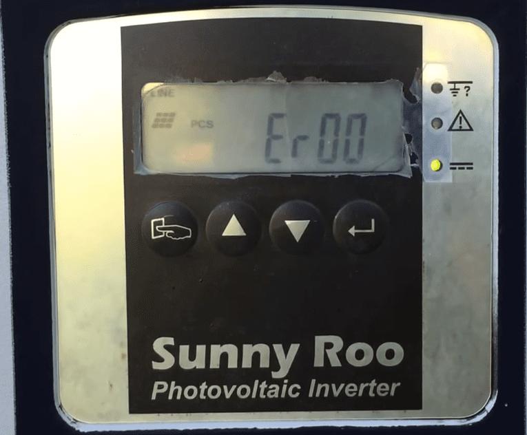 Sunny Roo Inverter Er00 Error Code