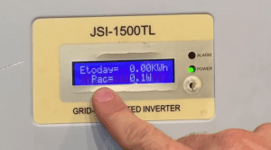 JFY Solar Inverter 0W Low Power Output