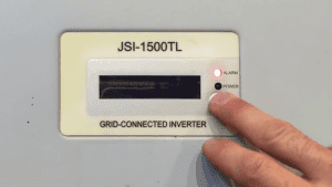 JFY Solar Inverter Red Alarm Light On And Screen Is Blank
