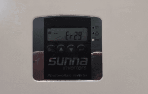 Sunny Roo Beyond Building and Sunna Inverter Er-29 Error Code