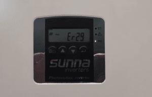 Sunny Roo Beyond Building and Sunna Inverter Er-29 Error Code