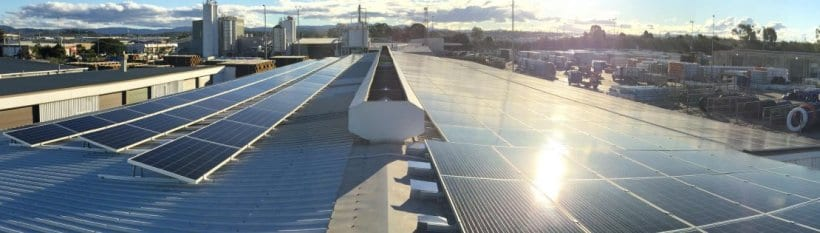 100kW commercial solar power system installed by Gold Coast Solar power Solutions