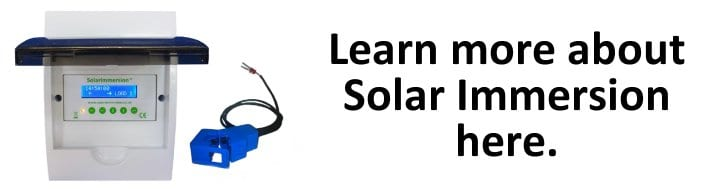 Find out more about Solar Immersion and store surplus solar power here.