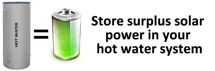 Store your surplus solar power in your hot water system with Solar Immersion