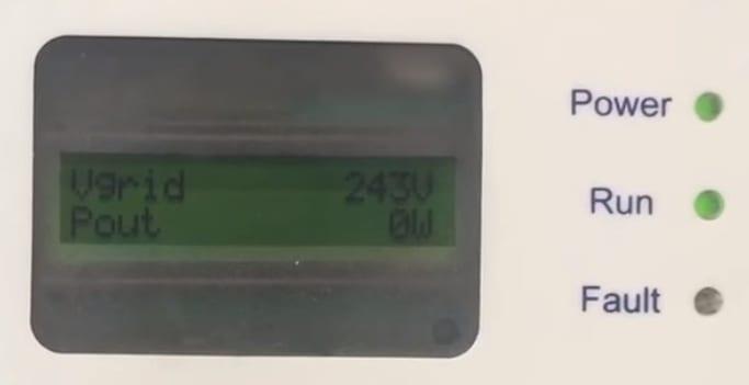 Aerosharp Solar Inverter 0W Output