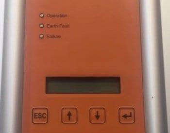 Blank Screen on Delta Solivia solar inverter