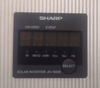Blank screen on Sharp JH1600E solar inverter