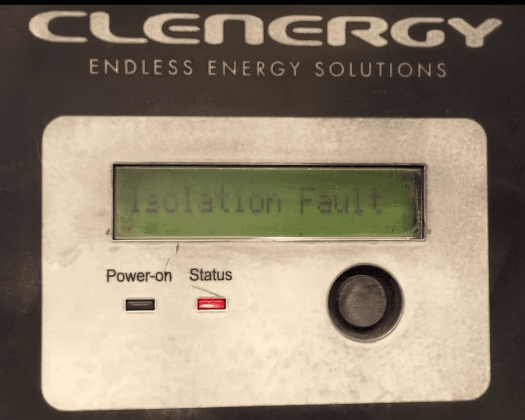 Clenergy SPH Solar Inverter Isolation Fault