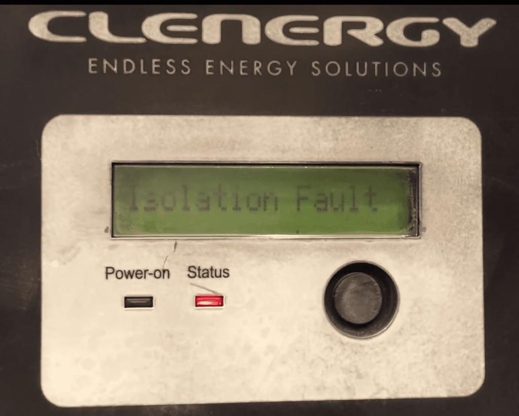 Clenergy SPH Solar Inverter Isolation Fault