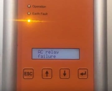 Delta Solivia solar inverter AC Relay Failure
