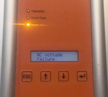 Delta Solivia solar inverter AC voltage failure