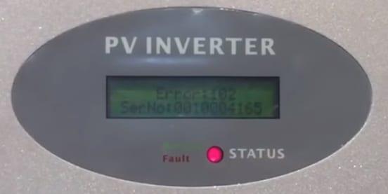 Growatt Solar Inverter Error 102