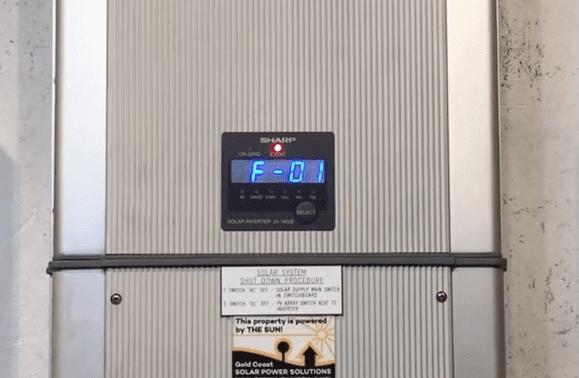 Sharp JH1600E Solar Inverter F-01 Fault Code