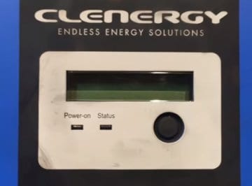Blank screen on your Clenergy SPH solar inverter