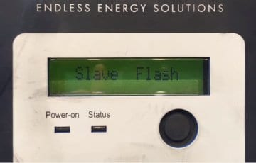 Clenergy SPH solar inverter slave flash error