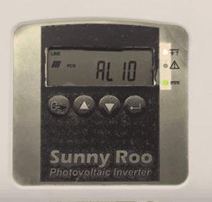 Sunny Roo Inverter AL10 Error code