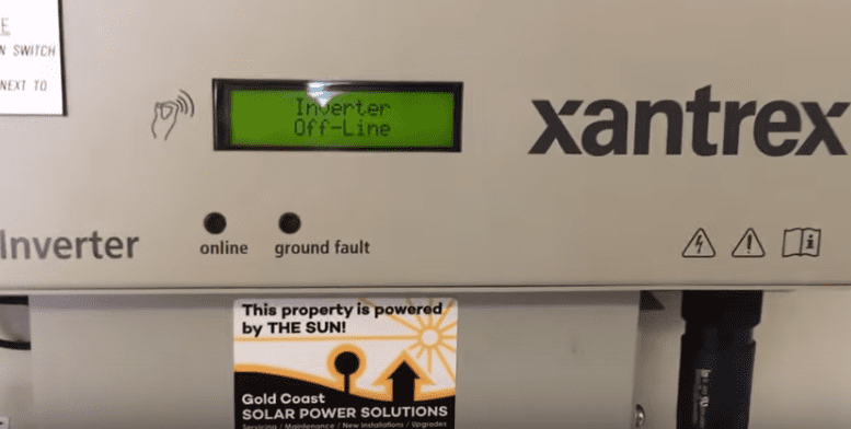 Xantrex Solar Inverter Off Line Gold Coast Solar Power