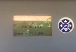 CMS 10000 solar inverter ERR DC SENSOR