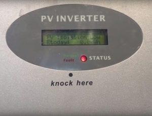 Growatt Solar Inverter PV Isolation Low