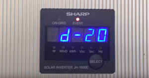Sharp JH1600e Solar Inverter d-20 Error Code