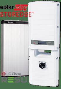 SolarEdge StorEdge inverter and LG Chem battery