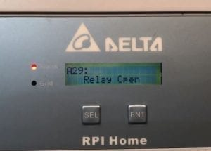 Delta RPI Home Solar Inverter A29 Relay Open