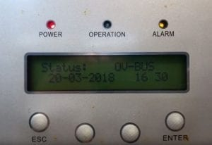 Ginlong Solar Inverter OV Bus Error Message