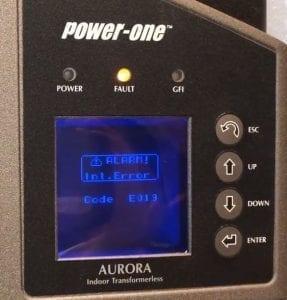 Power One Aurora E019 Error Code