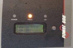 power one aurora e021 error code